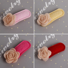 20 pcs/lot, Felt Flower Hair Clip, Spring Hair Accessory