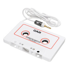 New Arrival Cassette Car Stereo Tape Adapter For iPod for iPhone MP3 AUX CD Player Converter 3.5mm Jack Audio Cable