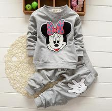 Children Clothing Sets Baby girls pajamas suits Girls Clothing Sets sleepwear Dora/kitty/pajamas 100% cotton set shirts+trousers