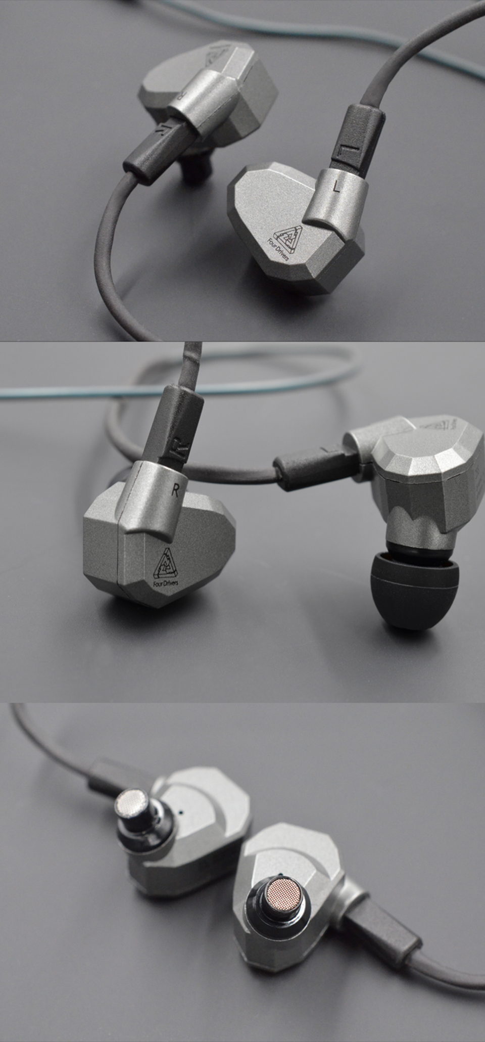 KZ ZS5 Double Hybrid Dynamic and Balanced Armature Sport Earphone Four Driver In Ear Headset Noise Isolating HiFi Music Earbuds