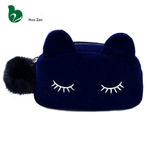 Cute Cat Neceser Beautician Vanity Trip Travel Toiletry Make Up Makeup Suitcase Case Storage Pouch Women Cosmetic Bag Organizer(China)