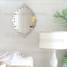 Creative Retro Frame Design 3mm Thick 3D Acrylic Mirror Wall Stickers Bedroom Bathroom Kitchen Home Decor Wall Art Poster M005