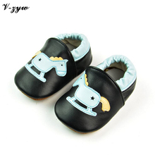Fashion Baby First Walkers Breathable Spring Autumn Shoes Soft Leather Baby Walking Boots Boys Girls Infant Shoes Slippers GZ031(China)