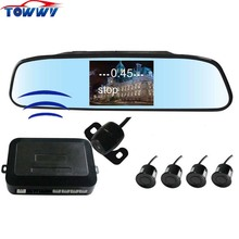 OEPZ604-W 4 Sensors Wireless Car Parking Sensor System With Rearview Camera and 4.3 inch digital TFT-LCD Screen(China)