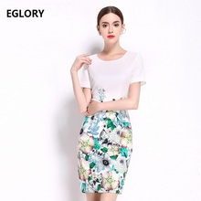 XXXL Extra Large Dress New Arrive 2017 Summer Clothes Ladies O-Neck Green Leaves Flower Print Short Sleeve Hip Pack Bandage Dres