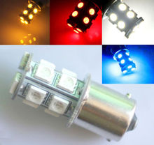 10pcs White Red Blue Amber S25 1157 BAY15D P21/5W BAU15S PY21W 1156 BA15S P21W 13 SMD 13SMD Car Turn Signal Light Bulb Lamp 24V