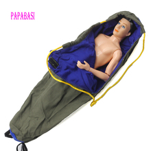 1pcs Carrying Bag Out Package A sleeping bag for Barbie doll Ken boy friend Doll Accessories bag free shipping(China)