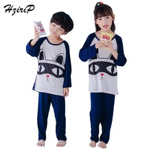 Buy HziriP New Arrivals Children Nightgowns Pajama Sets Cute Cartoon Long Sleeves Suits Kids Girls Boys Sleepwear Home Clothing for $10.63 in AliExpress store