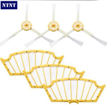 NTNT Free Post New 3-Armed Side Brushes & Brush Filter 530 550 560 570 For iRobot Roomba 500 Series(China)