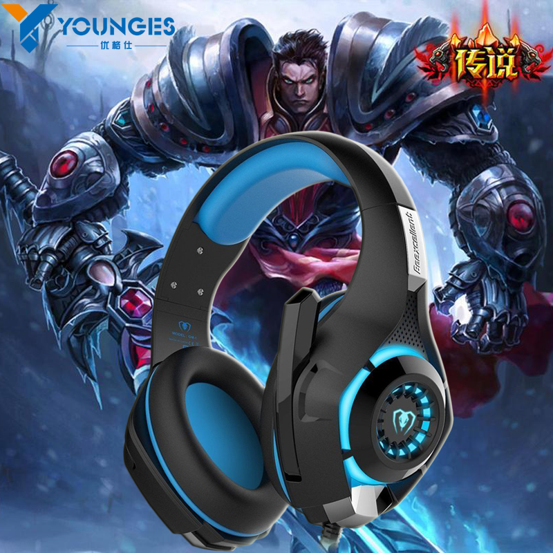 New  for mobile phone PS4 PSP PC Gaming Headphones 3.5mm+usb Wired Headset with Microphone LED Lamp Noise Canceling Headphones<br><br>Aliexpress