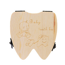 Tooth Box Organizer for Baby Milk Teeth Save Wood Storage Tooth Box Lanugo Colle Apr26 DIVV Extraordinary(China)