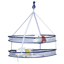 Round Sweater Drying Rack Folding 2 layer Double Hanging Clothes Laundry Basket Dryer Windproof Drying Clothes Net(China)