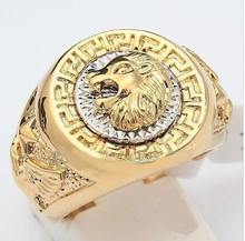 Free shipping Noble Men's 19mm Band Ring Cool Lion Eagle Star  Plated Size8.9 .10exit silver wide watch wings women men