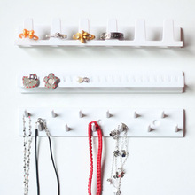 Wall Hanging Shelf Jewelry Necklace Rings Earrings Keys Display Stand Rack Holder Organizer #85914