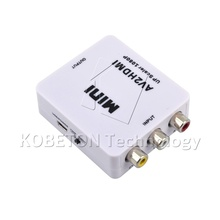 2017 NEW Mini Composite VCBS to AV2HDMI Audio Converter RCA/AV to HDMI Male to Female Adapter Converter Switch Box 720P 1080P