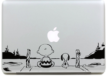 Boy and Dog Sticker for apple Macbook Air 11 12 13 Pro 13 15 17 Retina Decal Laptop Car Skins Versatile Vinyl Pegatinas