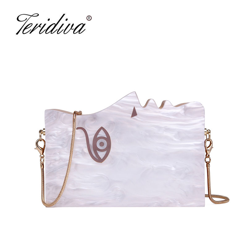 Teridiva Famous Brand Women Wooden Shoulder Bag Evening Party Wood Box Clutch Bag Ladies Hard Case Day Clutches Handbag Purse<br>