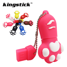 cute Silicone cat paw usb flash drive 32gb 64gb cat claw pen drive 4GB 8GB 16GB pendrive memory stick cartoon gift