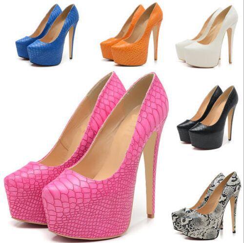 Women Pumps Wedding Party Fashion Style High Heels 14 Cm Plus Size 35-42 Snake Pattern with Platform<br><br>Aliexpress