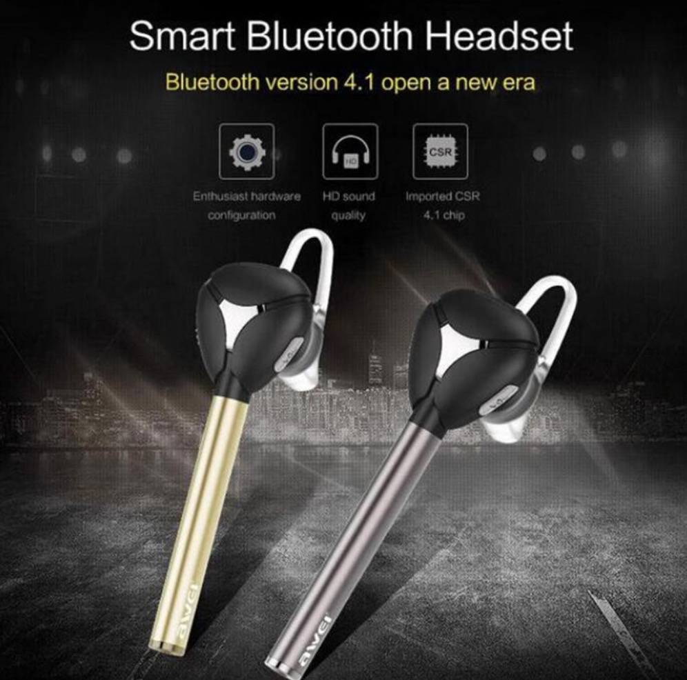 Awei Stereo Portable Noise Cancelling Wireless Bluetooth Handsfree Earphone for iPhone 5 5S 6 6S Plus Samsung HTC LG and More<br><br>Aliexpress