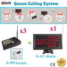 Wireless Queue System For Coffee Shop Fast Food Restaurant With 3 Transmitter And 1 Display By DHL/EMS Shipping Free