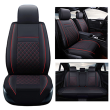 Four Seasons Leather Car Seat covers Full Set for General 5 seat car Use VW MG Toyota Mazda Buick Audi FORD CADILLAC BMW BENZ(China)