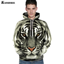 2017 3D Hoodies Men Tiger Lion Leopard Sweatshirt Casual Harajuku Couple's Pullover Women Men's Hip Hop Animal Hoodie(China)