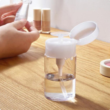 1 Pc Liquid Alcohol Press Empty Clear Bottle Portable Nail Acrylic Gel Polish Cleaner Remover Dispenser Refillable Bottles(China)