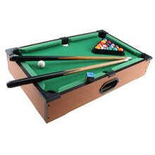 Mini Billiards Pool Ball Set Wooden Tabletop Pool Game Set 20*12.2*3.75 Inch With Accessories