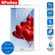 UPaitou Screen Protector For LG G Pro 2 Tempered Glass 2.5D 9H Safety Protective Film on G Pro2 B1 F350 D830 D837 D838
