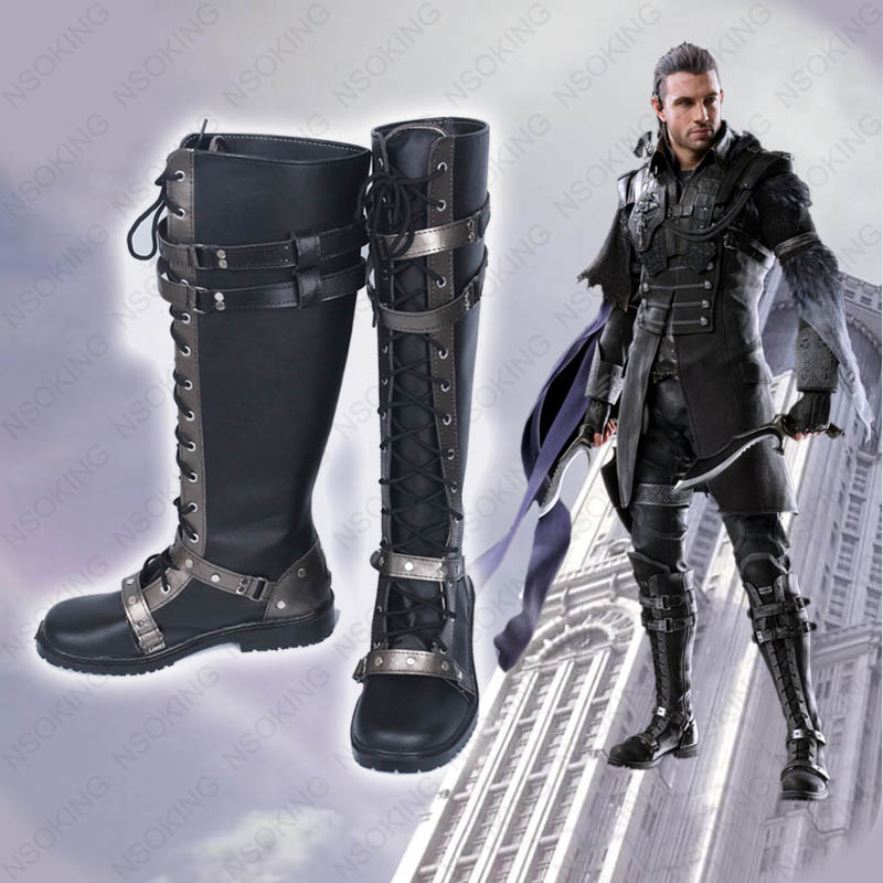 Kingsglaive Final Fantasy XV Nyx Ulric Cosplay Shoes FFXV FF15 Anime Boots