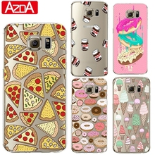 Donuts Pizza Silicone Cover Coque for Samsung Galaxy J2 J3 J5 A3 A5 2016 2015 2017 S3 S4 S5 S6 S7 Edge S8 Plus Grand Prime Case
