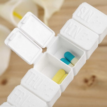 7 Slots Portable Pill Box Medicine Case Medicine Case Drug Pill Case Cute rectangle Shaped Pill Splitters Cases