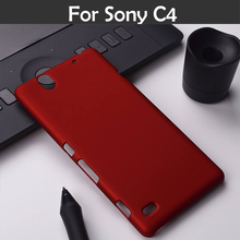 For Sony Xperia C4 E5333 E5303 E5306 Slim Frosted Back Cover Hood Hybrid Case Colorful Oil-coated Rubber Matte Hard Case