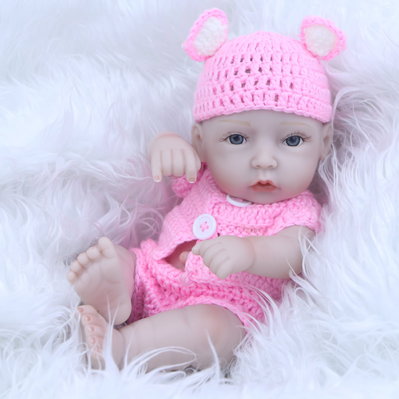 2017 New Arrival Girl Reborn Babies Lifelike 17 Inch 27 cm Fashion Newborn Dolls With Knitted Clothes Kids Birthday XMAS Gift<br><br>Aliexpress
