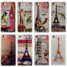 Painted Eiffel Tower Design cases For Iphone 4s 4 homer Simpson Gasp Logo Clear hard cover case for iphone 4 4s Funda Coque(China)
