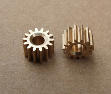 10 pcs/lot Mini 3.17 MM Pore 14 Tooth Brass Motor Shaft Gear DIY Toys Parts Free Shipping Russia(China)