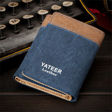 Short Wallets Brand Slim Purse Men Purses Male Clamp Coin Card Money Clip Wallet Small Canvas Thin Purse Portomonee carteras