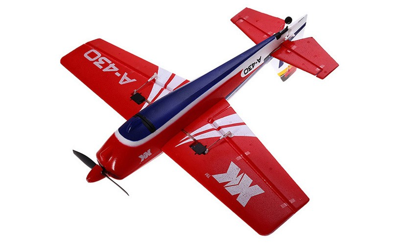 XK A430 2.4G 5CH 3D6G System Brushless RC Airplane Compatible Futaba RTF(China)