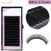 Free Shipping 20 trays wholesale 0.15mm Black Material Silk Eyelash Extensions False Individual Eyelashes private label service(China)