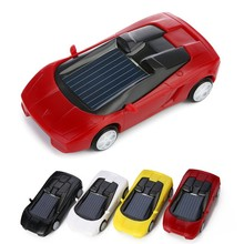 2016 Super Fast Solar Car Toy Novelty Gag Toys Children Educational Enlighten Doll Kids Gift brinquedo carro solar(China)