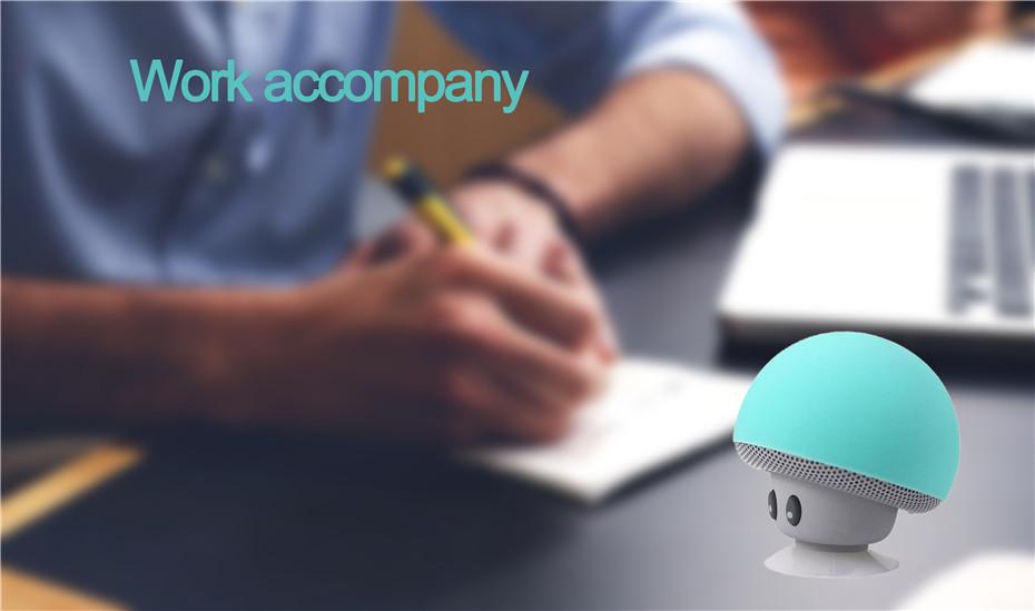 Wireless Mini Bluetooth Speaker Portable Mushroom Waterproof Stereo Bluetooth Speaker for Mobile Phone iPhone Xiaomi Computer PC (2)