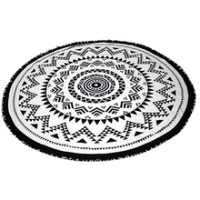2016 Summer Large Size Round Beach Towels Geometric Printed Beach Towel With Tassels Bohemian New Style 150cm QB989002