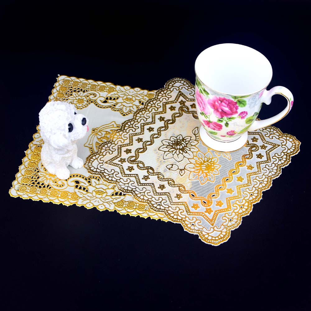 compare prices on gold place mats online shoppingbuy low price  - cm modern gold pvc placemats for table place mat pad cloth drink doilycup mug holder