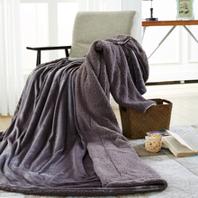 Solid color Sheep and velvet Blanket winter lamb cashmere thickened double warm and Soft(China)