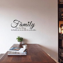 English Quotes Wall Decals Family The Best Thing to Hold On Wall Stickers for Living Room Decoration(China)