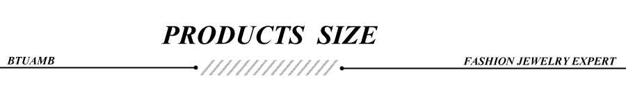 PRODUCTS SIZE