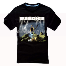 Free shipping  New Heavy Metal Herzeleid Germany hard rock Band Men Black T-Shirt TEE