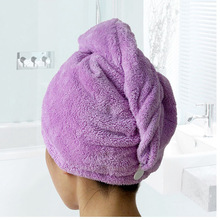 Microfiber Hair Towel Ultra Absorbent Twist Hair Turban Drying Cap For Spa