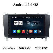 "2 din 8"" Android 7.1 Android 6.0 Car Audio DVD Player for Mercedes Benz C-Class W203 CLC G Class W467 With 2GB RAM Radio GPS USB(China)"